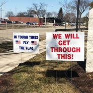 In Tough Times Signs