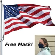 Free Mask with Heavy-Duty Polyester Flag