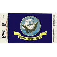 Navy Flag Decal 3.5x5in