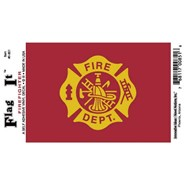 Fire Department Decal 3.5x5in