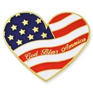 U.S. Flag Heart Pin 1