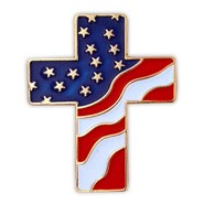U.S. Flag Cross Pin