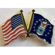 Air Force Flag U.S. Flag Double Pin