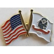 Army Flag U.S. Flag Double Pin