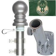 Milwaukee Bucks 3x5ft Spinning Flagpole Set