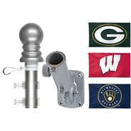 Packer/Badger/Brewer 3x5ft Spinning Flagpole Set