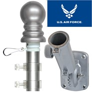 Air Force Wings 3x5ft Spinning Flagpole Set