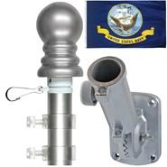 Navy 3x5ft Spinning Flagpole Set
