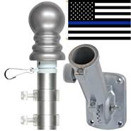 Thin Blue Line U.S. 3x5ft Spinning Flagpole Set