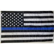 Thin Blue Line U.S. 3x5' Flag