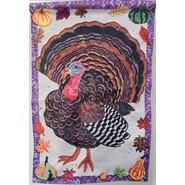 Textured Turkey 12x18in Garden Flag