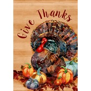 Thanksgiving Turkey 28x40in House Flag