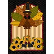 Quilted Turkey 28x40in House Flag