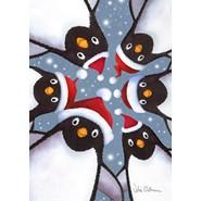 Penguin Selfie 12x18in Garden Flag