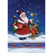 Santa's Night 28x40in House Flag