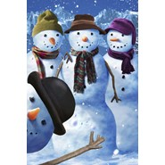 Snowman Photobomb 28x40in House Flag