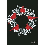 Cardinal Wreath 28x40in House Flag