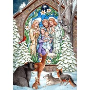 Winter Nativity 28x40in House Flag