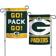 """Go Pack Go 2-Sided 12.5""""x18"""" Garden Flag"""