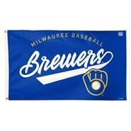 Milwaukee Brewers Fancy Script 3x5ft Flag
