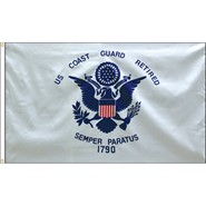 Coast Guard Retired Flag
