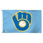 Milwaukee Brewers (Retro) Light Blue 3x5ft Flag