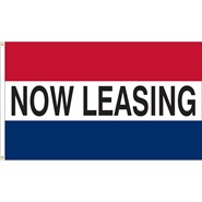 Now Leasing Real Estate Flag