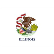 Illinois State Nylon Flag