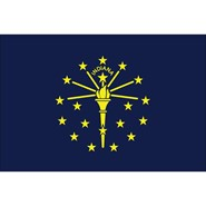 Indiana State Nylon Flag
